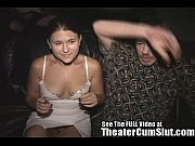 wife sucks and fucks strangers in a seedy porn theater