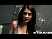 Mofos- Riley blows bf in public bathroom