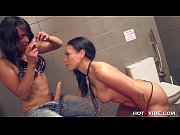Picture Lesbians Squirting in Public Bathroom with Strap...
