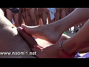 footjob by naomi1 on a public beach