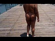 my wife naked in public on pier 5.