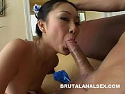 Petite Asian Evelyn Lin has her asshole s ...