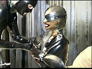 Master and slave chick in a BDSM scene