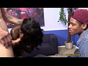 ana foxxx fucks a white guy in front.