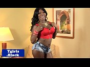 stockings ebony tranny plays with her.