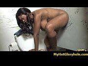 Initiating black girl in the art of interracial gloryhole blowjob 22