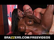 curvy ebony masseuse oils herself up for some.