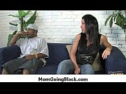 white milf rides black monster dick.