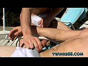 Free gay underwear porn movie Zack &amp_ Mike - Jackin by the Pool