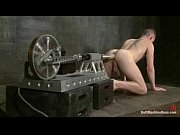 hot stud gets machine reamed in the ass,.