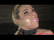 Breathplay sub flogged and fingered