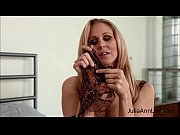 Julia Ann Teases with Pantyhose &amp_ Lingerie!
