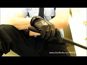 dominant cop with leather glove -.