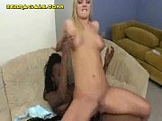 Interracial Anal Fucking with Strap-On Cock