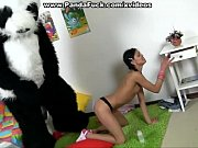 panda toy fucks a cute teenage.