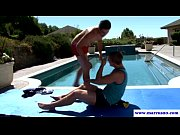 Straight guy gets fucked by the pool
