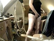 Have a look of huge clit of my mom. Hidden cam