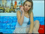 russian girl with white stockings stripping on webcam.