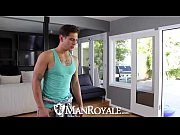 HD - ManRoyale Cute guy needs his muscular friend for physical work
