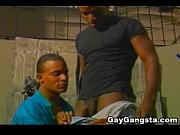 black gay gangsta enjoying anal sex