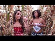 perfect big and perfect small amateur tits in a iowa corn field