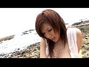 sexy asian pleasures herself outdoors