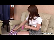 Hot Asian teen uses her toy on her hairy cunt