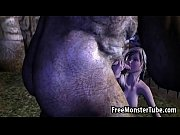 3d blonde babe sucking on an orc&#039_s stiff schlong