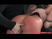 Ballgagged Mia Gold over the knee spank