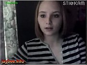 young girl play on webcam