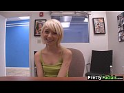 tiny teen blonde gets a facial.