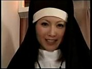 a nun, a dick and her ass cumin.