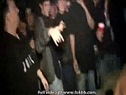 shy looking teen gets wild at a party.