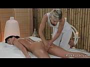 Lesbian masseuse and babe fing