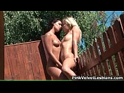 hot blonde lesbian gets her wet.