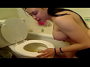 girl puking in sink