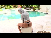 Ebony booty babe Bria Marie facialized