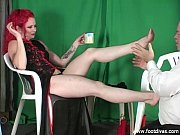 foot slave sniffs feet.480p -more on.