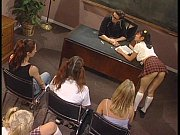 Sexy Schoolgirls Hannah Harper and Mika Tan Share Teacher&#039_s Big Cock FFM