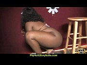 Ebony Hottie Milking Cocks in the Gloryhole 25