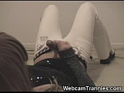 Teen Crossdresser Stroking on Cam!