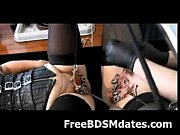 two heavy pierced pussies in bondage.