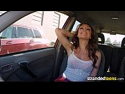 StrandedTeens - Freckle face teen loves car sex