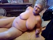 nasty grandma fingering her pussy. real.