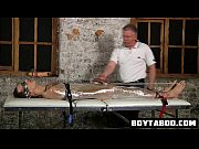 saran wrapped hunk hunk get his cock tied.