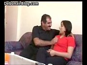 arab nani and cute lady kiss.