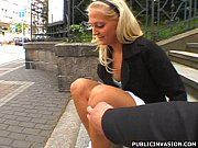 Czech Blondie in Public Invasion Sucking and Fucking 4