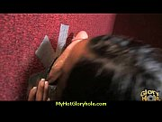 Natural cute black teen tries out gloryhole 6