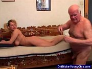 Dirty Old Man Plays Games With Blonde