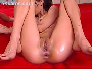 brunette dp play solo huge dildo.